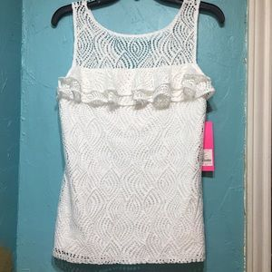 Lilly Pulitzer Leaf Lace Top